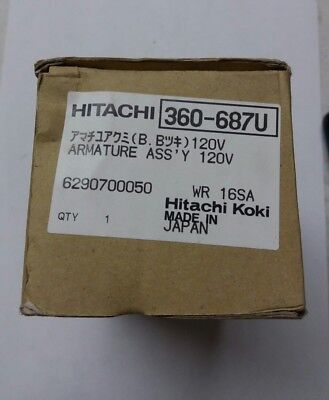 Hitachi 360-687u Armature Assy 120v For Impact Wrench • 104.14£