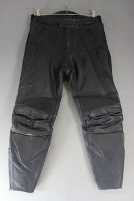 £39 • Buy Rider Black Leather Biker Trousers: Waist 32 Inches/inside Leg 29 Inches