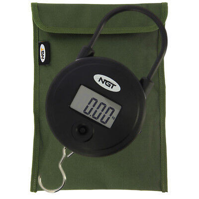£15.21 • Buy NGT Carp Coarse Fishing Digital 55lb / 25kg Weighing Scales With Storage Pouch
