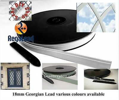 18mm Self Adhesive Lead Strip Window Lead Glass Crafts Georgian Various Colours • 56£