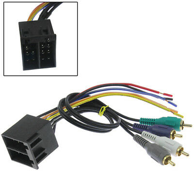new car stereo cd player wiring harness wire adapter plug fits aftermarket  radio • 7 58$