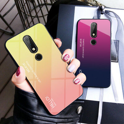AU5.93 • Buy For Nokia 7.1 / 3.1 Plus/ X7 Tempered Glass Back TPU Frame Bumper Case Cover