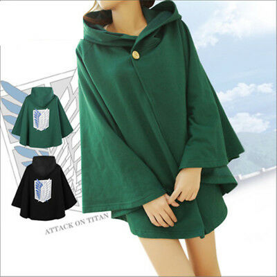 AU47.65 • Buy Attack On Titan Wings Of Freedom Men/Women Cotton Cloak Cosplay Cape 2 Color