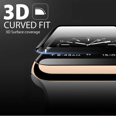 $ CDN2.67 • Buy Apple Watch IWatch Series 1 2 3 4 3D Full Cover Tempered Glass Screen Protector