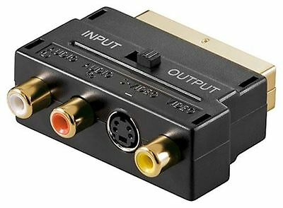 £6.81 • Buy Goobay Scart Adaptor Gold-plated Scart Male To 3x RCA Female + Mini-DIN 4 Female