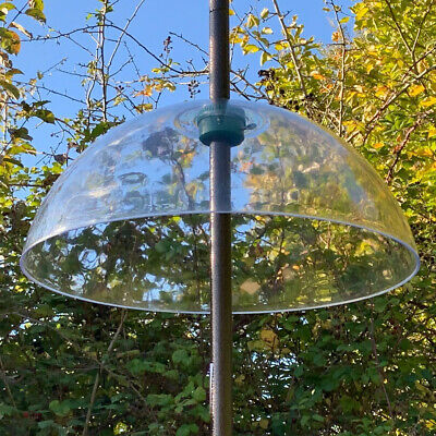 £17.99 • Buy Squirrel Proof Baffle Protection For Wild Bird Feeders Clear Dome Hanging Guard