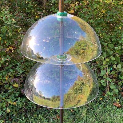 £27.99 • Buy 2 X Squirrel Proof Baffle Protection Wild Bird Feeders Clear Dome Hanging Guard