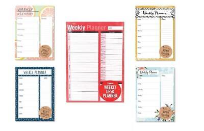A4 Weekly Planner To Do List Desk Note Pad Meal Plan Home Office Tear Off Sheets • 2.25£