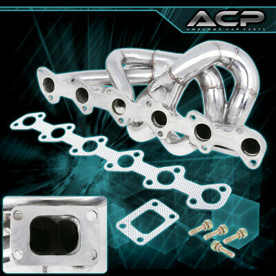 $ CDN194.17 • Buy 86-91 E30 M20 2.5/2.7 T3 T4 Stainless Top Mount Racing Turbo Exhaust Manifold