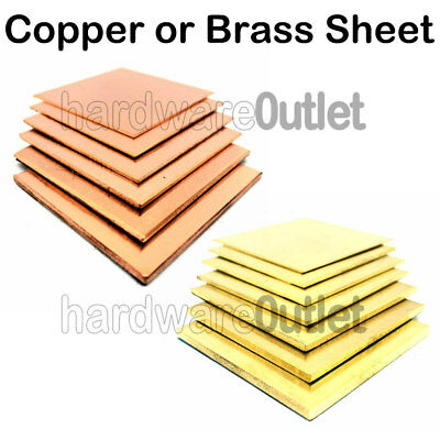 £4.55 • Buy BRASS OR COPPER SHEET 0.55 Mm To 3.0 Mm Guillotine Cut Metal Plate