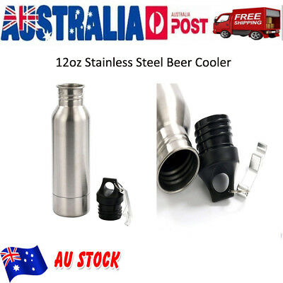 AU14.99 • Buy 12oz Stainless Steel Beer Water Bottle Mug Holder Cooler Thermo Cold Keeper AU