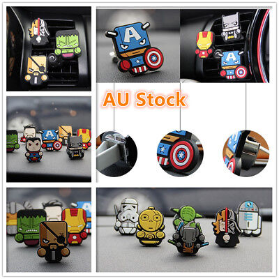 AU5.95 • Buy Car Vent Air Freshener Clip Perfume Diffuser The Avengers Marvel Heros Star Wars