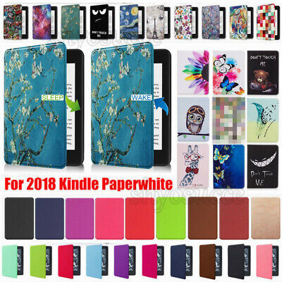 For Amazon Kindle Paperwhite 10th Generation 2018 Leather Flip Stand Case Cover • 6.45£