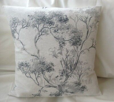 Lovely Laura Ashley Designer Cushion Cover ELMLEY STEEL Fabric Various Sizes • 12.95£