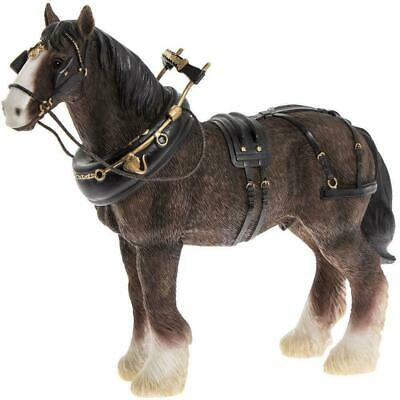 Brown Shire Clydesdale Gypsy Horse Ornament Cart Dray Romany Figurine Gift • 19.95£