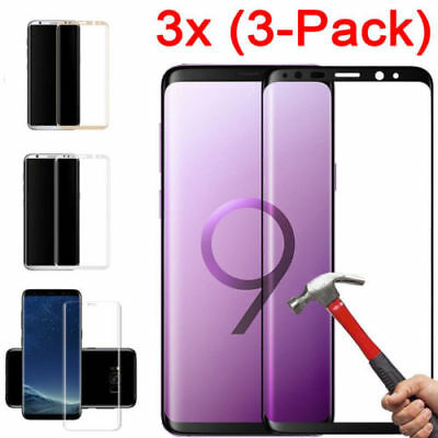 $ CDN5.22 • Buy For Samsung Galaxy S9 S8 Plus Note 9 Full Cover Tempered Glass Screen Protector