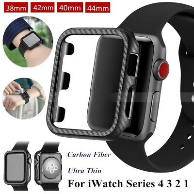 $ CDN3.44 • Buy Ultra Thin Carbon Fiber Protector Case Cover For Apple Watch Series 4 3 2 1