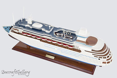 $441.79 • Buy NEW PREMIUM MAJESTY OF THE SEAS Wooden Model Boat Cruise Ship 80cm Great Gift