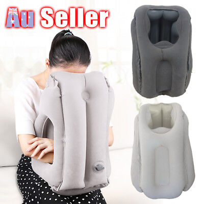AU17.45 • Buy Comfortable Inflatable Cushion Air Travel Pillow Neck Flight Support Nap