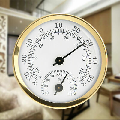 No Battery Hygrometer Thermometer Indoor Grow Room Humidity Temperature Vintage • 8.42£