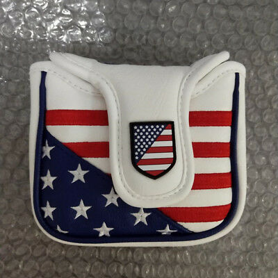£9.91 • Buy Square Mallet USA Putter Cover Golf Headcover Magnet For Taylormade Spider Tour