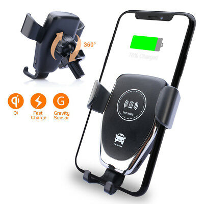 $ CDN51.99 • Buy 10W FAST Qi Wireless Charger Car Holder Stand For Samsung Galaxy S8/S9 Note 9/8