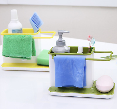 AU18.99 • Buy Kitchen Racks Organizer Caddy Sink Utensils Soap Dispenser Holders Drainer