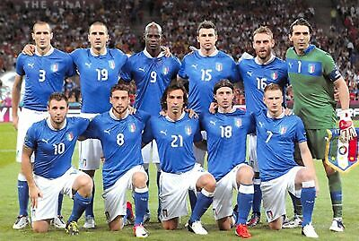 Football Soccer Italian Postcard Italy National Team Euro 2012 Final V Spain 43K • 2.99£