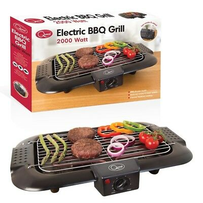 Indoor Table Top Electric Barbecue BBQ Grill Smoke Free Portable Griddle Camping • 24.95£