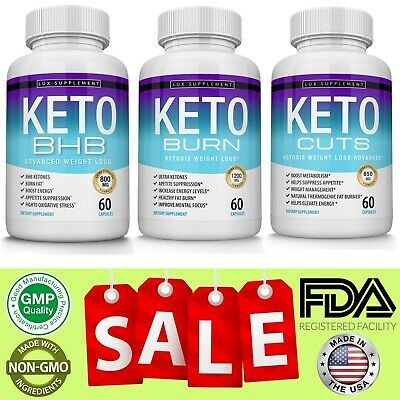 $39.97 • Buy Keto Diet Pills Bundle Advanced Ketosis Weight Loss Ketogenic & Carb Blocker