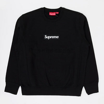 $ CDN1184.06 • Buy Supreme FW18 Box Logo Crewneck Split Hooded Long Sleeve Sweatshirt Black