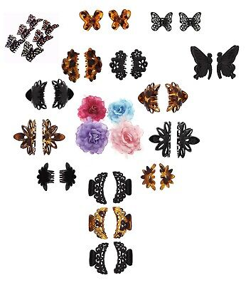 Large Hair Claw Clips Clamp Grip Butterfly Flower Jaw Clamp Black/brown Women Uk • 8.46£