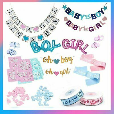 AU4.84 • Buy Baby Shower Gender Reveal Party Balloon Banner Flags Napkins Sash Ribbon 1st Bir