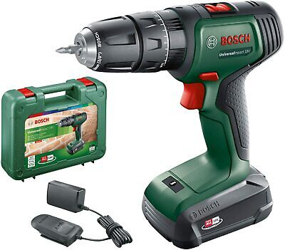 £89 • Buy Bosch 18v Lithium-Ion Cordless Combi Drill, Battery Charger &Case PSB 1800 LI-2