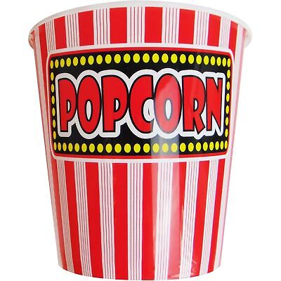 Jumbo Top Movie 7  Popcorn Holder Reusable Plastic Tubs Movie Cinema Film Party • 3.99£