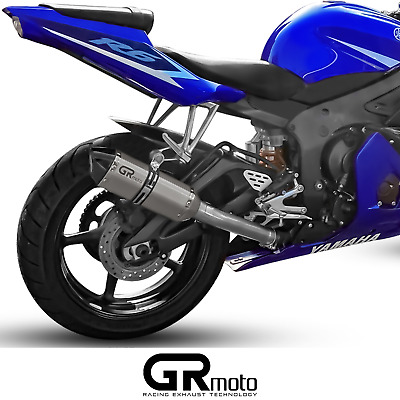 $290.21 • Buy Exhaust For YAMAHA R6 YZF 2003 - 2005 GRmoto Muffler Carbon Titanium
