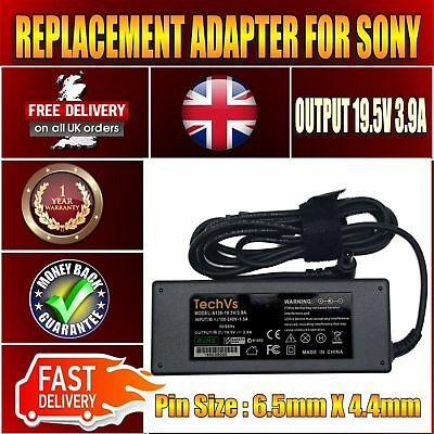 New For Sony Vaio Vgp-ac19v33 Laptop Techvs 19.5v 3.9a 75w Adapter Charger Psu • 102.69£