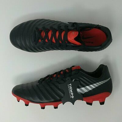 929be4f9a90 New Nike Tiempo Legend VII Pro FG Mens Soccer Cleats Black Red AH7241-006 •