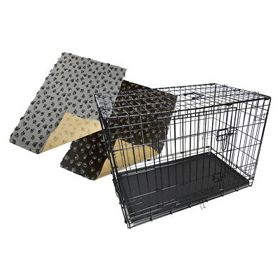 $81.22 • Buy Dog Pet Cage Puppy Crate Carrier With Non-slip Bedding 28mm - S M L XL XXL