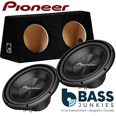 2 X Pioneer TS-A300D4 12  3000 WATTS Dual Voice Car Sub Subwoofer & Bass Box • 279.99£