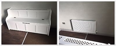 3 Ft Radiator Cover Monks Bench/Settle/Pew With Storage (MADE TO ANY SIZE) • 485£