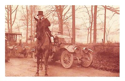 £1.99 • Buy Nostalgia Postcard Challenge Cars Meet The Hunt 1912 Reproduction Card #N478
