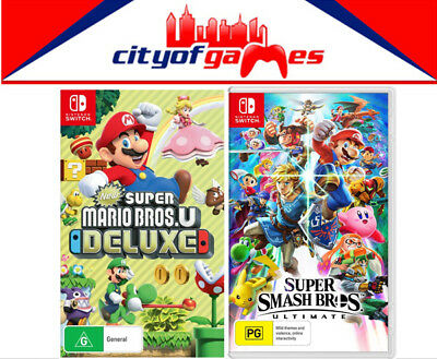 AU149.95 • Buy New Super Mario Bros. U Deluxe & Super Smash Bros. Ultimate Switch New In Stock