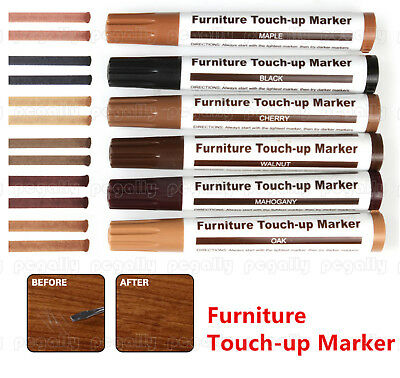 £7.37 • Buy 6pcs Wood Furniture Touch Up Kit Marker Pen Wax Scratch Filler Remover Repair