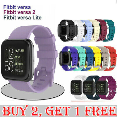 AU6.75 • Buy For Fitbit Versa/Lite/Versa 2 Replacement Band Wristband Silicone Sports Watch