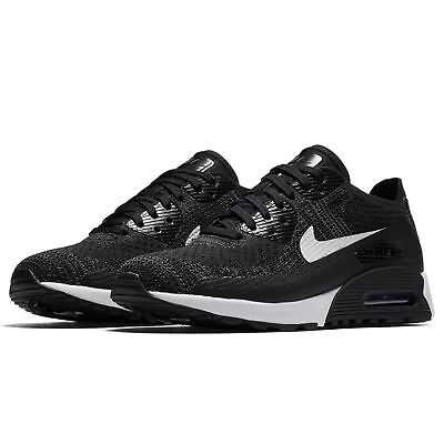 promo code e8448 87c52 Nike Air Max 90 Ultra 2.0 Flyknit Mujer Zapatos Negros Gris Blanco 881109-