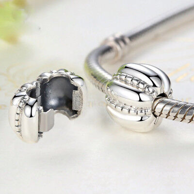 Pumpkin Charm Clip Stopper Silver Plated Bead For European Charm Bracelets • 3.95£