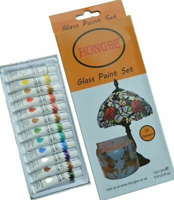£7.49 • Buy Glass Paints 12ml Transparent Stained Effect + Gold Outliner Tube 12ml Non-Toxic