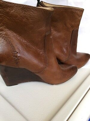 03f8feeff05 Frye Regina Wedge Back Zip Boots Women s Size 8 US • 134.27