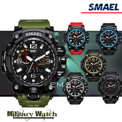 AU19.99 • Buy For SMAEL S Shock Waterproof Sports Military Men's Analog Quartz Digital Watches